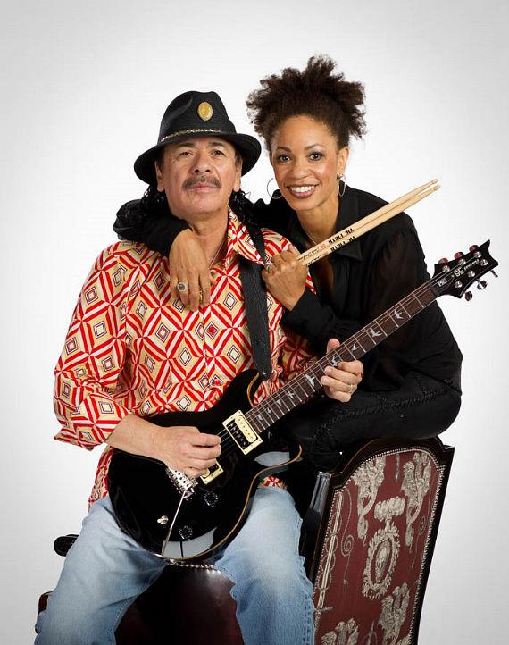 Newlyweds Carlos and Cindy Santana, photographed at The Joint at Hard Rock Hotel & Casino for Musicians Friend Magazine, have made Las Vegas their home on the heels of the Supernatural Santana Residency show at The Hard Rock Hotel & Casino that spanned for 2 years.