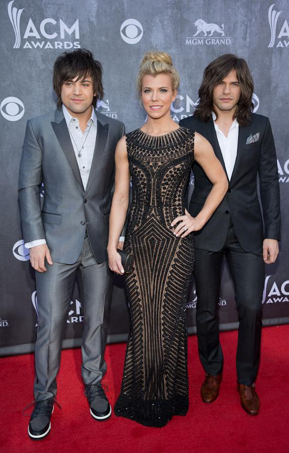 Neil Perry, Kimberly Perry and Reid Perry of The Band Perry at 49th ACM Awards in Las Vegas