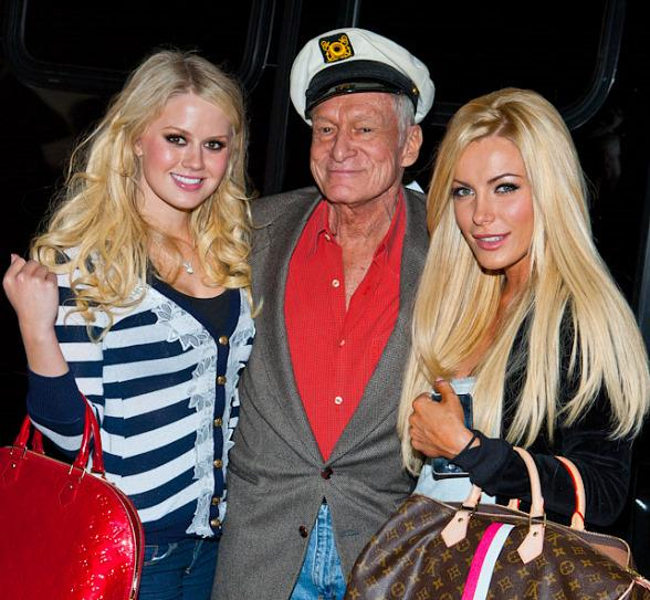 Anna Sophia Berglund (Playboy Playmate of the Month for January 2011), Hugh Hefner and his fiancée Crystal Harris