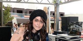 Taryn Manning DJs Pool Party at Palms Casino Resort