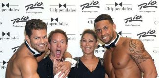 Carson Kressley and Kym Johnson Attend Chippendales at The Rio in Las Vegas