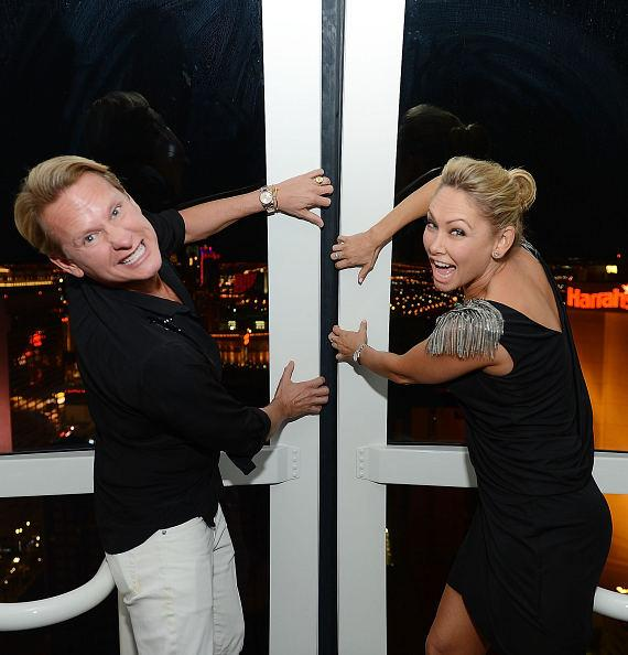 Carson Kressley and Kym Johnson take selfies inside The High Roller at The LINQ