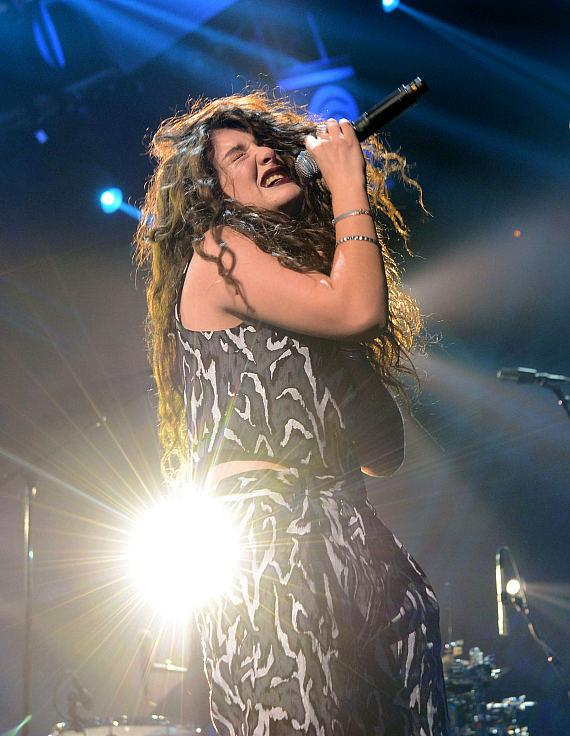 Singer Lorde performs onstage during the 2014 iHeartRadio Music Festival at the MGM Grand Garden Arena