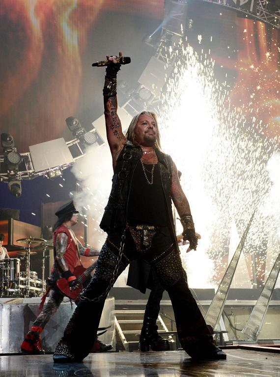 Vince Neil performs onstage during the 2014 iHeartRadio Music Festival at the MGM Grand Garden Arena