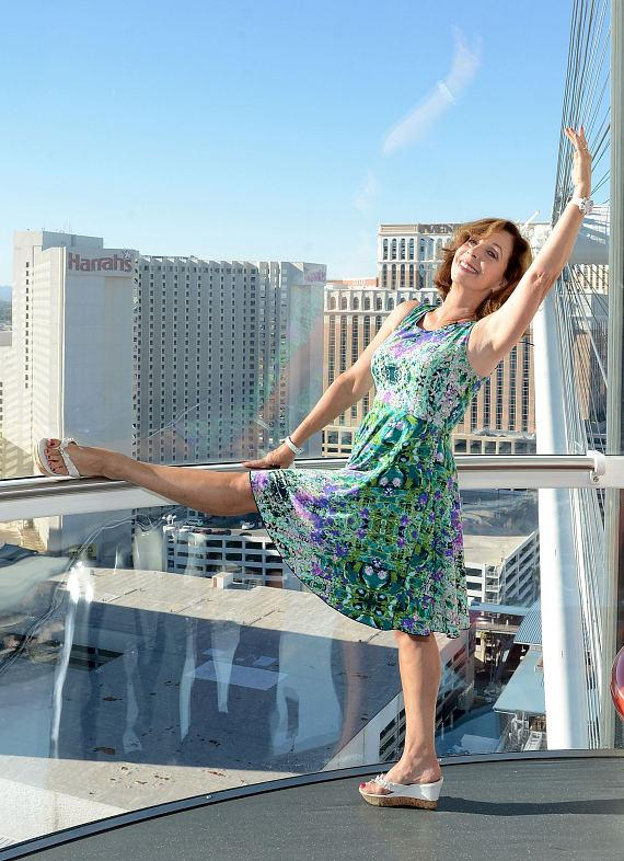 Rita Rudner rides The High Roller at The LINQ