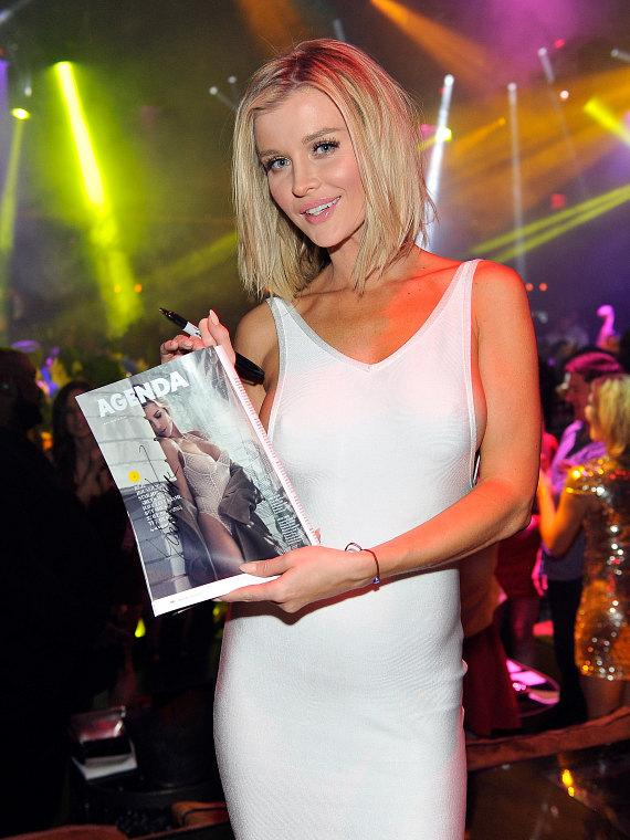 Model and Actress Joanna Krupa shows her MAXIM article at 1OAK Nightclub at The Mirage in Las Vegas