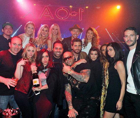 Scott Disick and friends at 1OAK in The Mirage Las Vegas