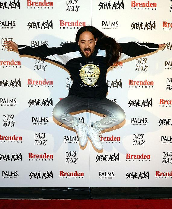 Producer/DJ Steve Aoki Receives Brenden 'Celebrity Star' at Palms Casino Resort
