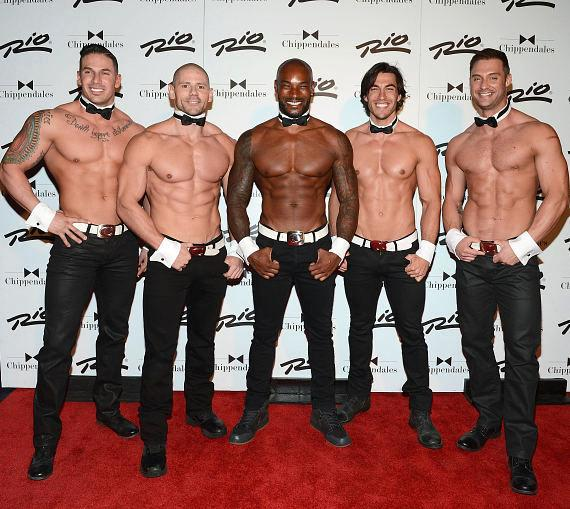 Tyson Beckford with Chippendales at the Rio All-Suite Hotel in Las Vegas