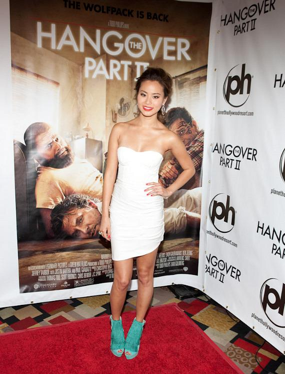 Jamie Chung with IGT Hangover Slot Machine