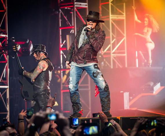 Axl Rose performs at The Joint in Hard Rock Las Vegas