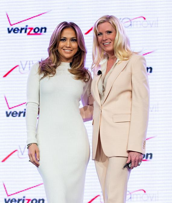 Jennifer Lopez and Marni Walden, Verizon Wireless Executive Vice President & COO