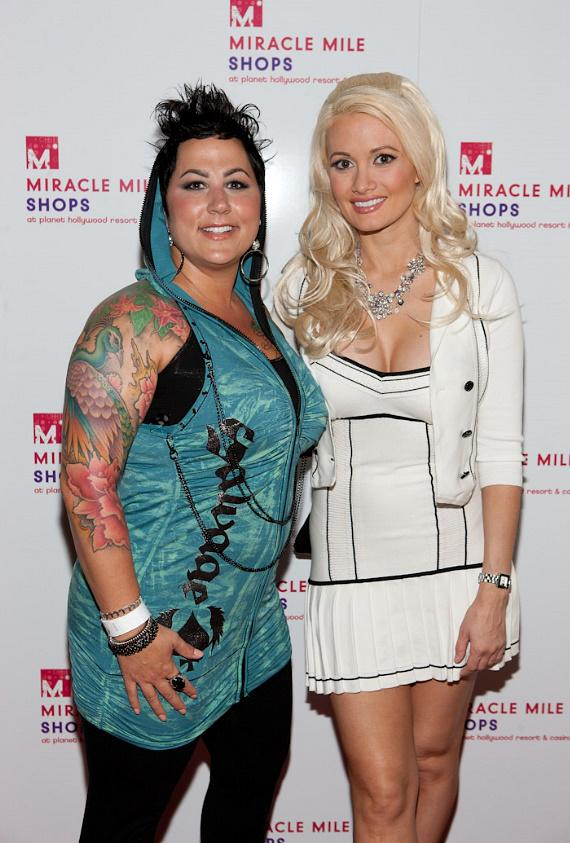 Thora Dowdell and Holly Madison at Cabo Wabo at Miracle Mile