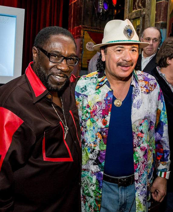"""Carlos Santana Honored with """"Bas Relief"""" Portrait/Sculpture at House of Blues Las Vegas"""