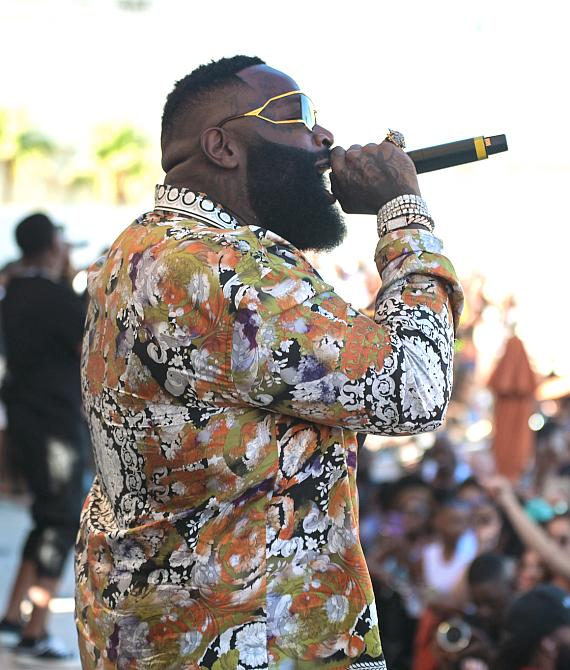 Rick Ross Performs at DAYLIGHT Beach Club for LIT Sundays in Las Vegas