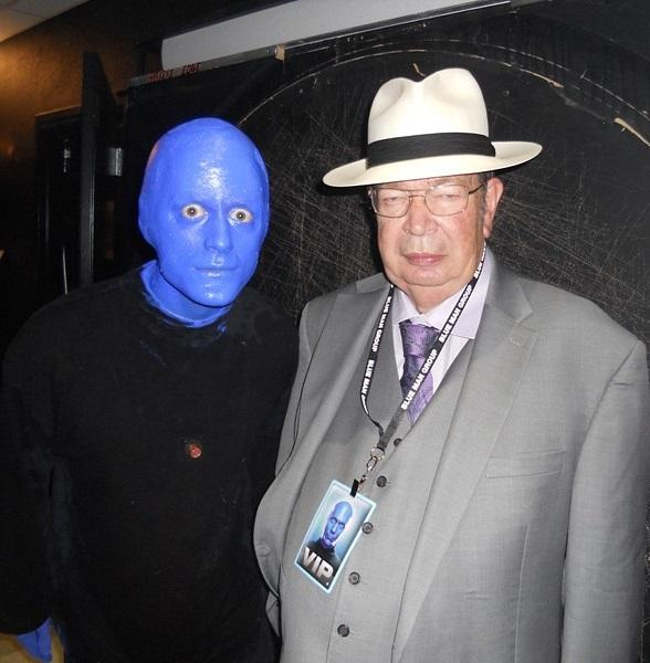 """Richard Harrison of HISTORY channel's """"Pawn Stars"""" Enjoys Blue Man Group at Monte Carlo Resort and Casino"""
