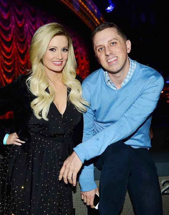 """Holly Madison with Mike Snedegar at """"Jennifer Lopez: All I Have"""" at The AXIS at Planet Hollywood Resort & Casino"""
