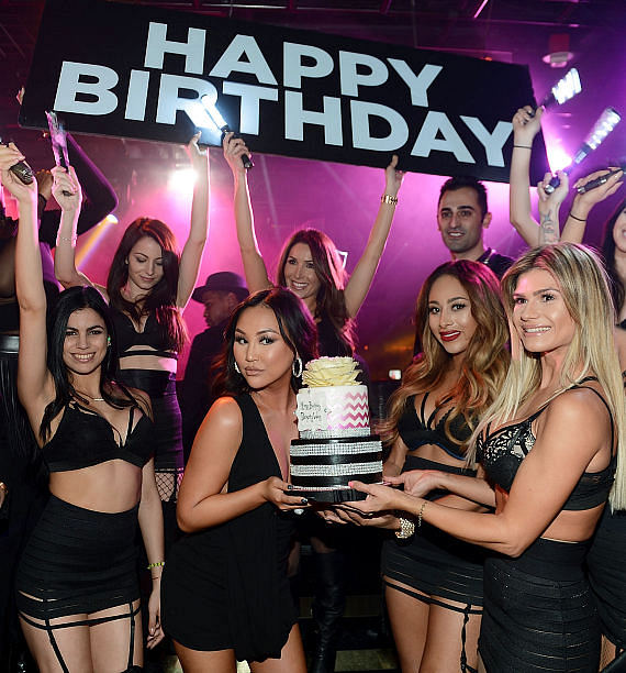 Dorothy Wang of Rich Kids Of Beverly Hills celebrates her birthday at 1 OAK Nightclub at The Mirage Hotel & Casino