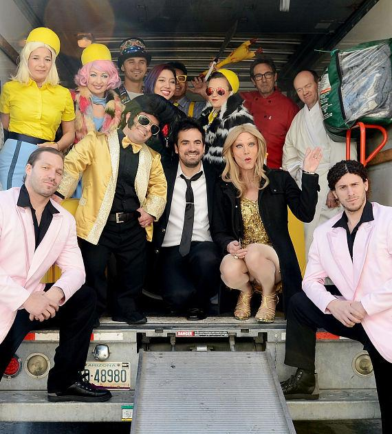 French celebrity Alex Goude and cast members arrive at 'Twisted Vegas' welcome event at Westgate Las Vegas Resort & Casino