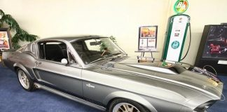 "Eleanor, the famous Mustang from the 2000 action hit, ""Gone in Sixty Seconds,"""