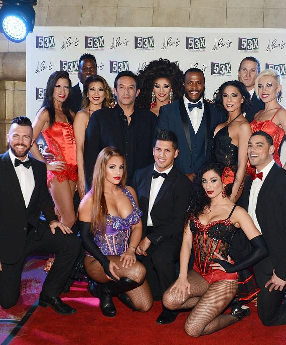 Cast members of 53X – the new show from the producers of Chippendales pose for photos at Paris Las Vegas