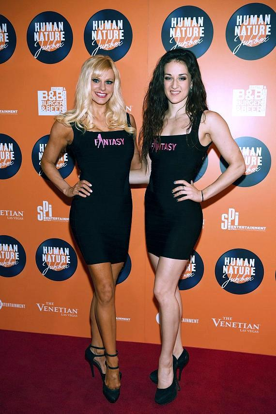 Cast members of Fantasy at the launch of Human Nature's new show 'Jukebox' at The Venetian Las Vegas
