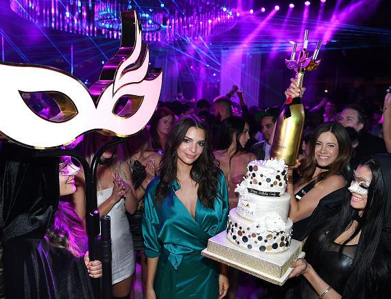 Emily Ratajkowski celebrates her birthday at Intrigue Nightclub at Wynn Las Vegas on May 28, 2016 in Las Vegas, Nevada.