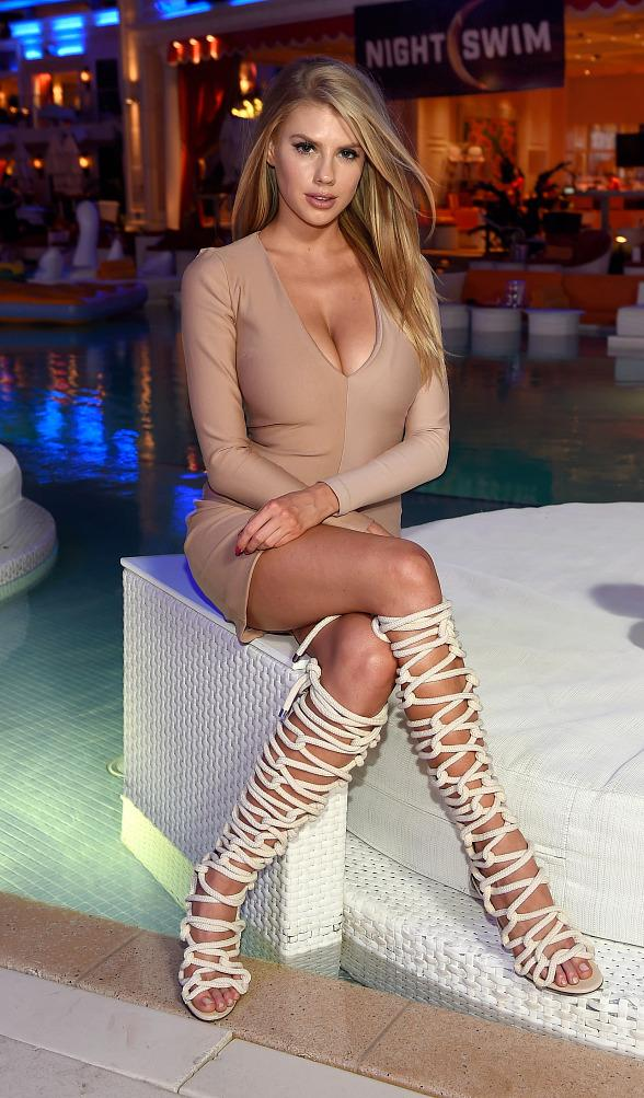 Charlotte McKinney Hosts Grand Opening of NightSwim at Encore Beach Club, Wynn Las Vegas