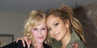 """Kris Jenner and Melanie Griffith at """"Jennifer Lopez: All I Have"""" at The AXIS at Planet Hollywood Resort & Casino"""
