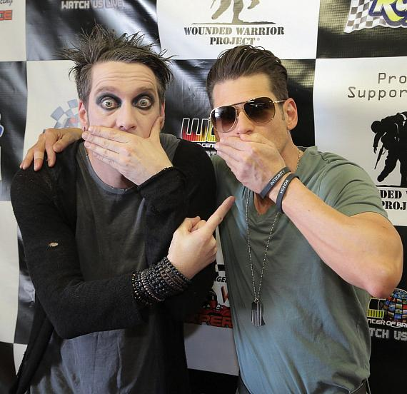 Mime/Magician Tape Face and Mike Hammer