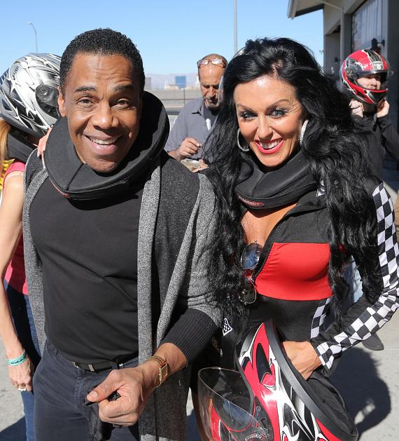 Earl Turner and Jennifer Romas in the racing area