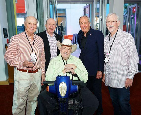 """Jack Binion, Larry Ruvo, Doyle """"Texas Dolly"""" Brunson and guests"""