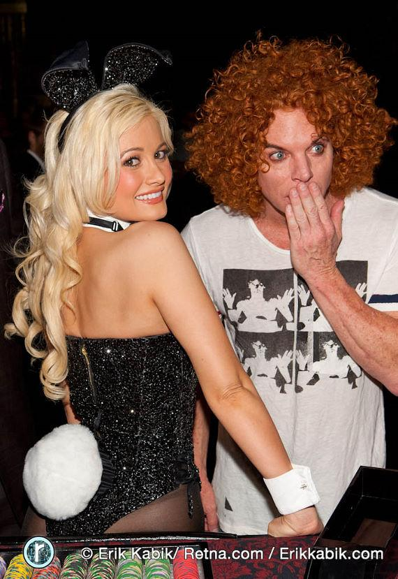 Holly Madison as Bunny Dealer at Playboy Club 50th Anniversary