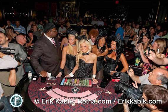 Holly Madison is a bunny dealer at Playboy Club