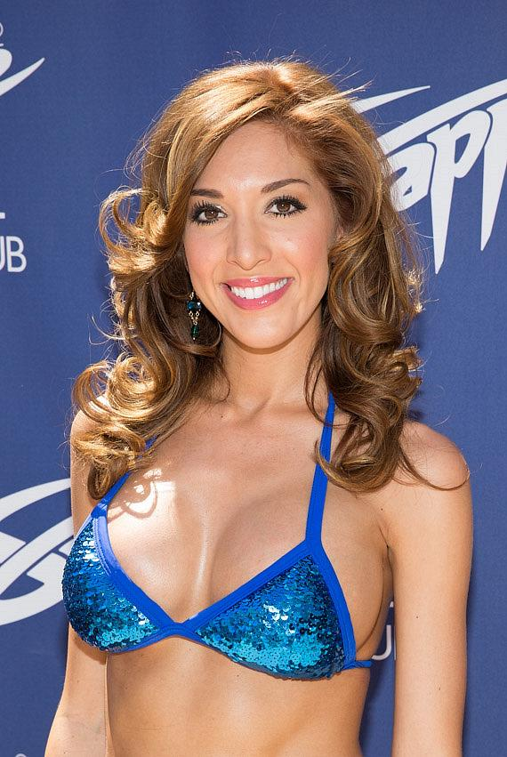 Farrah Abraham on red carpet at Sapphire Pool & Dayclub in Las Vegas