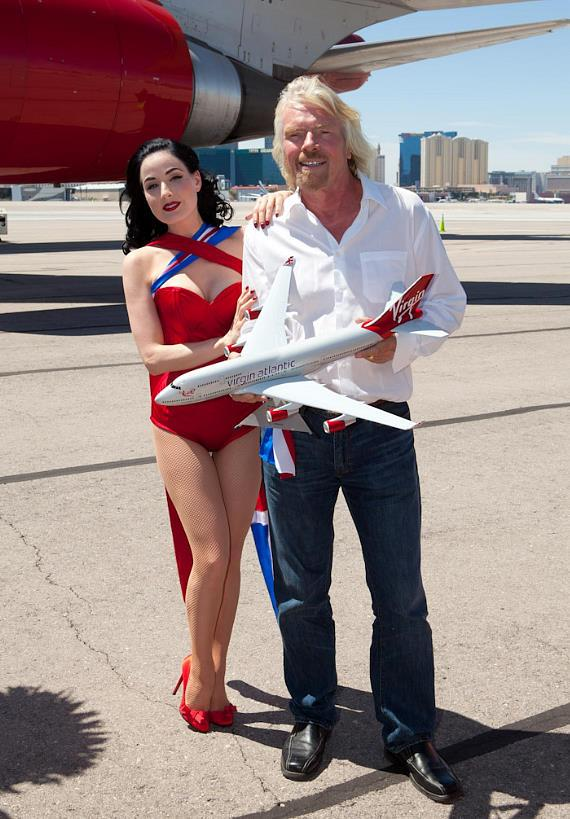 Dita Von Teese and Sir Richard Branson