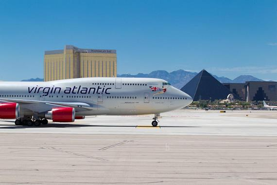 Virgin Atlantic Airways direct flight from London to Vegas