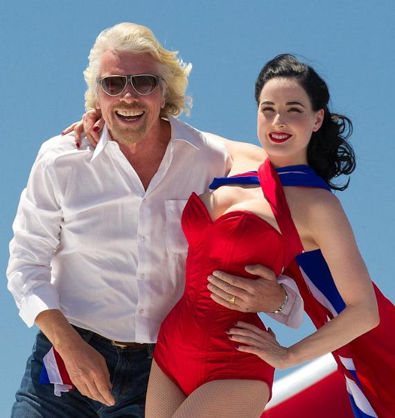 Sir Richard Branson and Dita Von Teese
