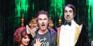 Penny Pibbets, Sam Trammell and The Gazillionaire backstage at ABSINTHE