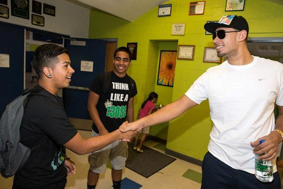 Afrojack visits Boys & Girls Clubs of Las Vegas' James Clubhouse for youth member's DJ class