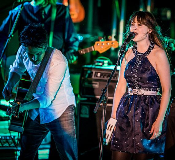Zooey Deschanel sings at the Boulevard Pool at The Cosmopolitan of Las Vegas