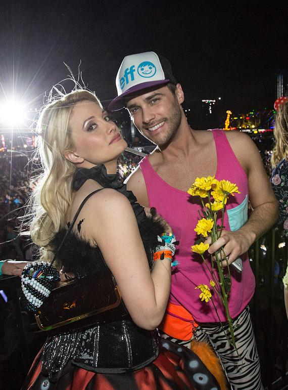 Holly Madison and Josh Strickland at Electric Daisy Carnival