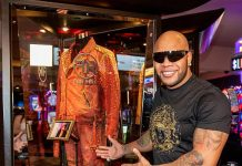 Rehab Beach Club Resident Performer Flo Rida Unveils Memorabilia Case at Hard Rock Hotel & Casino Las Vegas