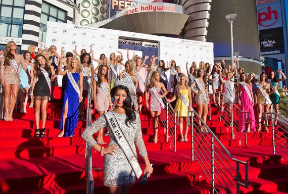 Miss USA Rima Fakih with 2011 Miss USA Pageant Contestants