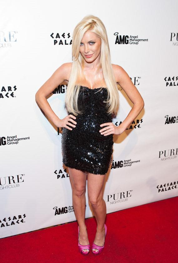 Crystal Harris at PURE Nightclub in Caesars Palace