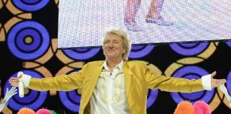 """Rod Stewart Celebrates 100th Performance of his Las Vegas Residency """"Rod Stewart: The Hits."""" at The Colosseum at Caesars Palace"""