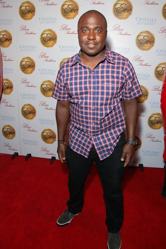 Marshall Faulk, Pro Football Hall of Fame inductee, stopped by Eve Nightclub inside Crystal at CityCenter