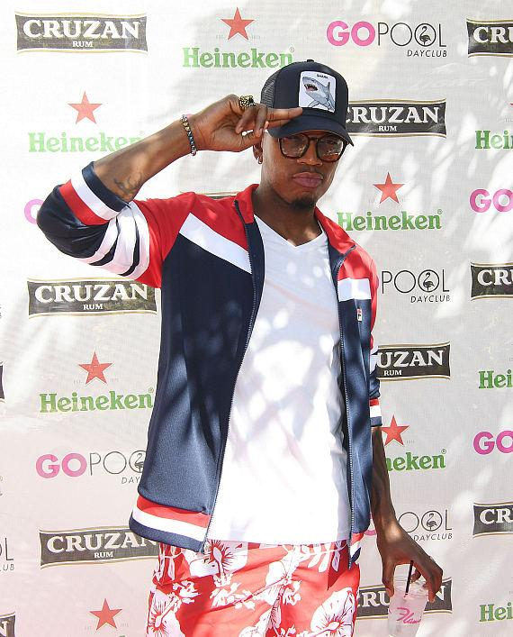 R&B Sensation Ne-Yo arrives at Flamingo Las Vegas' Go Pool Dayclub