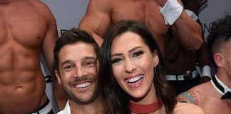 """The Bachelorette"" Winner Garrett Yrigoyen Strips down at Chippendales at Rio All-Suite Hotel & Casino in Las Vegas for One Night Only - Joined by Becca Kufrin"