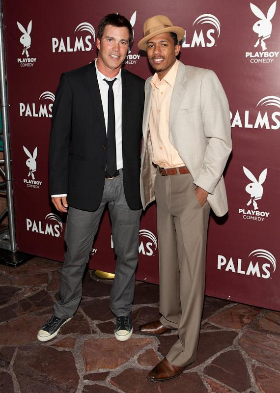 Cort McCown and Nick Cannon at Playboy Comedy at The Palms Casino Resort